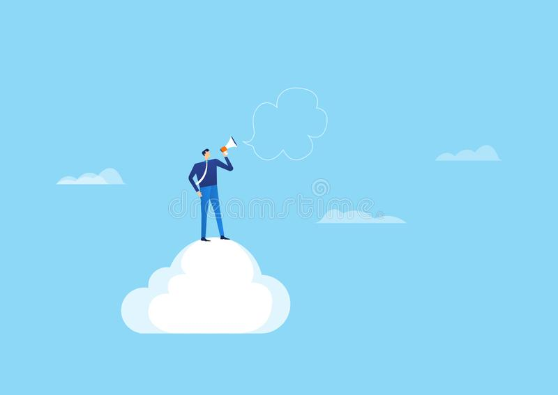 Cloud technology for online business concept royalty free illustration