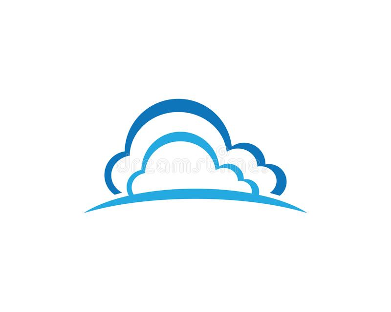 Cloud technology vector logo template royalty free illustration