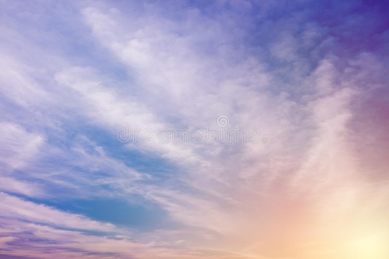 Cloud texture in sky royalty free stock image