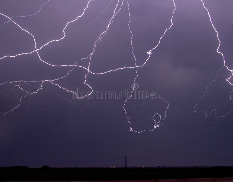 Cloud-to-cloud Lightning royalty free stock photo