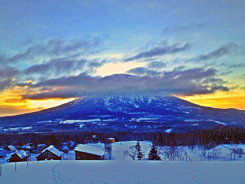 Cloud top mountain stock images