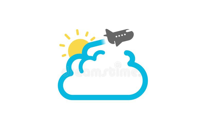 Cloud Travel Flight Airplane Creative Air Logo. Design Illustration vector illustration