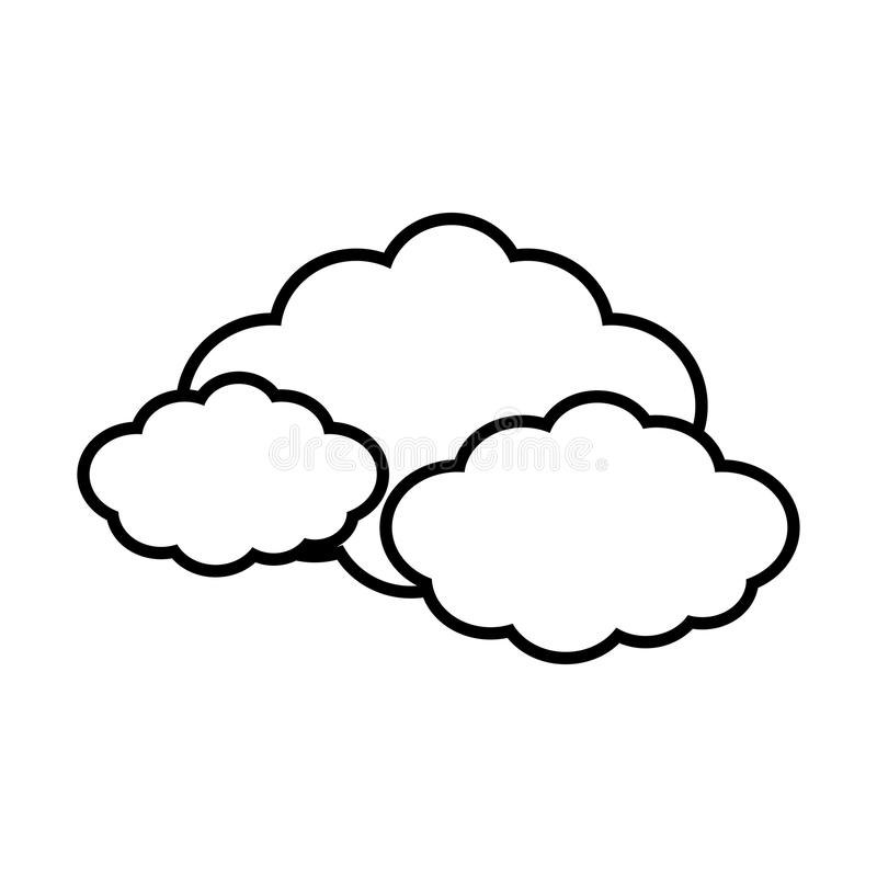 Cloud travel weather line. Illustration eps 10 royalty free illustration