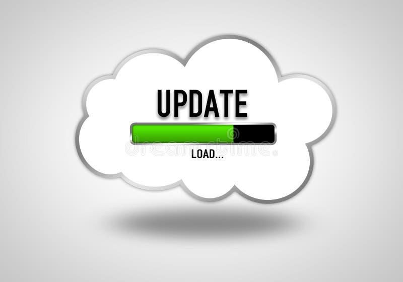 Cloud Update vector illustration