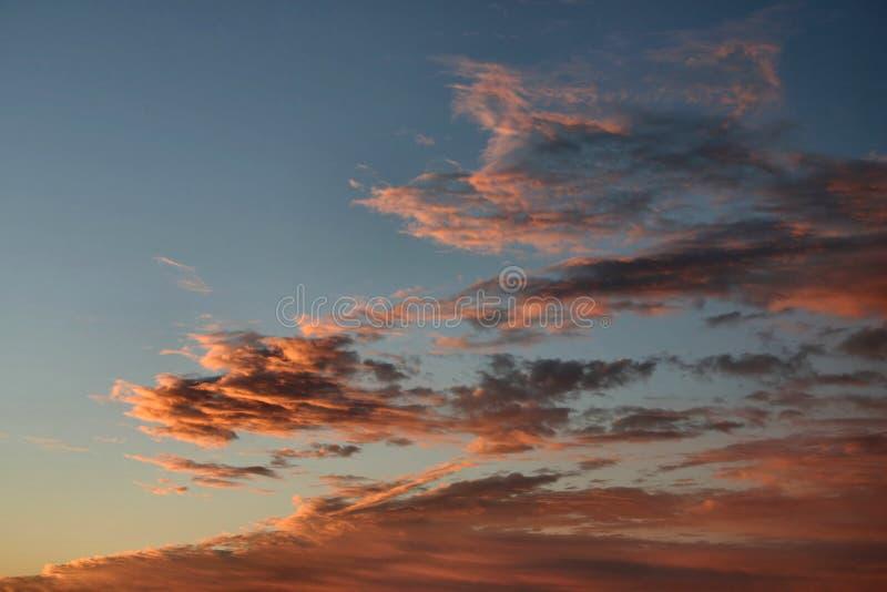 cloud utworzeniu pomarańcze zdjęcie royalty free