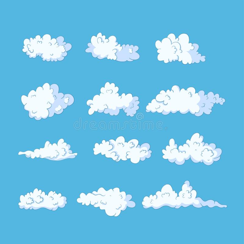 Cloud vector icon set. royalty free illustration