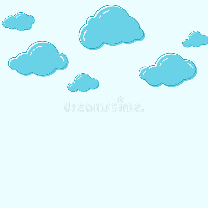 Cloud vector icons. stock illustration