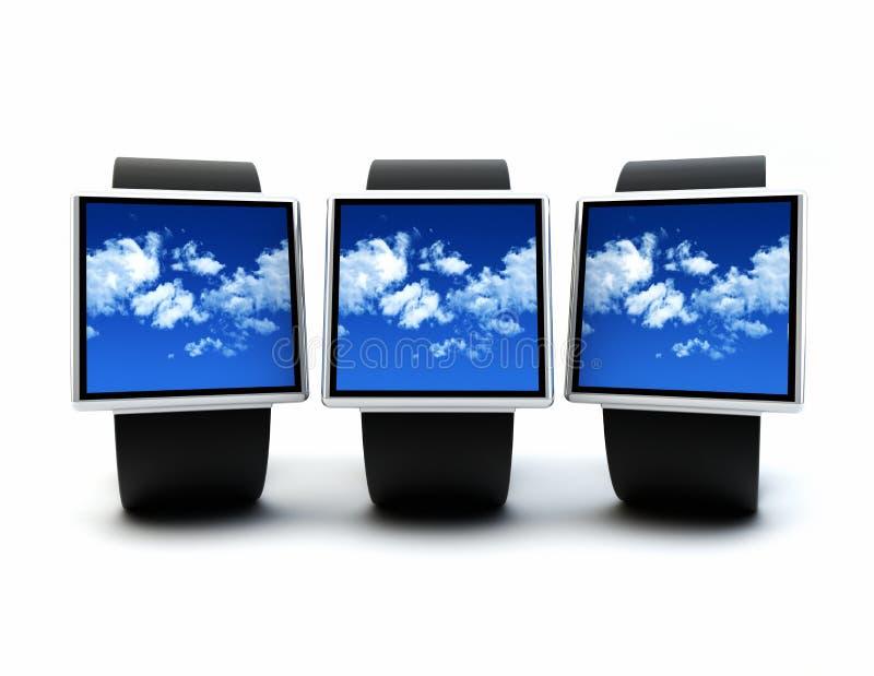 Cloud wearables stock illustration