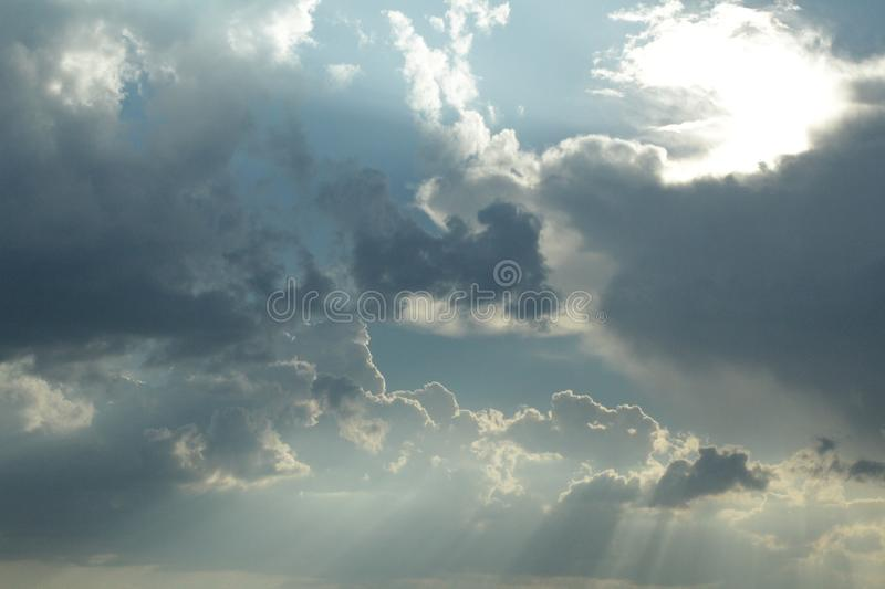 A cloud which blotted out the sky. royalty free stock images