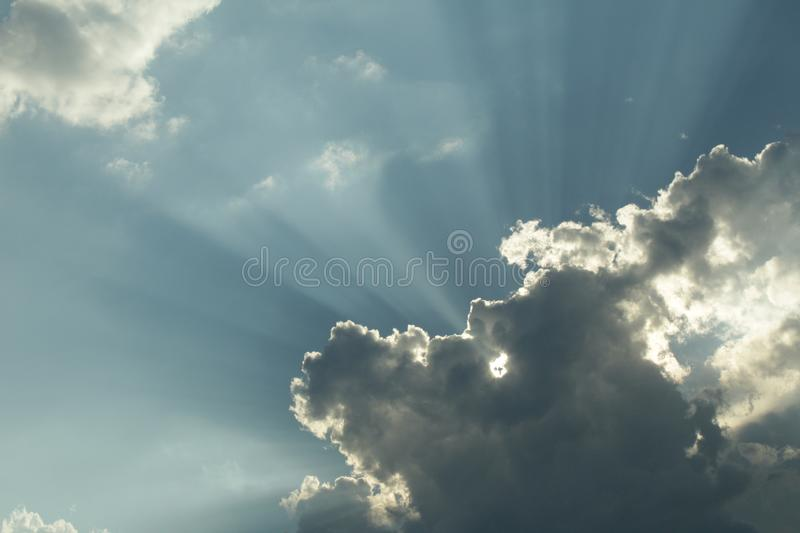 A cloud which blotted out the sky. stock images