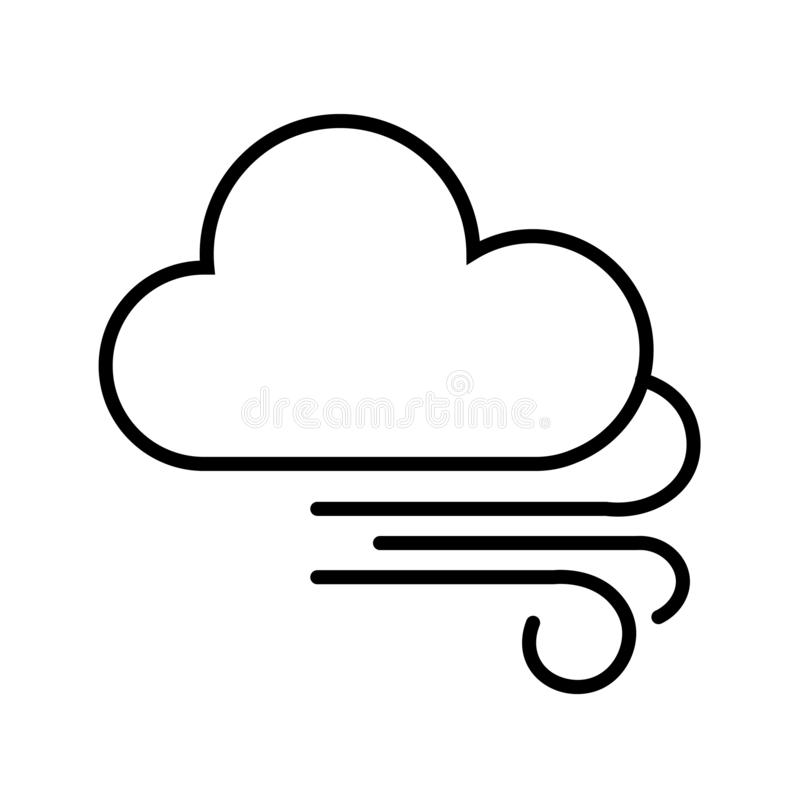 Cloud and Wind Icon Vector royalty free illustration