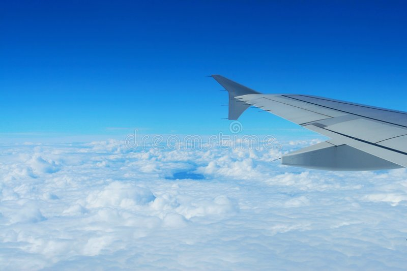 Cloud and wing royalty free stock photography