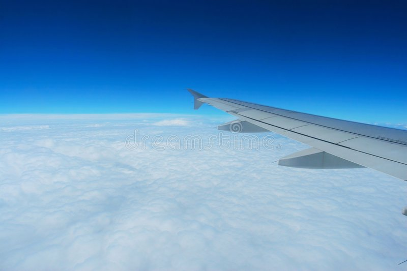 Cloud and wing stock images