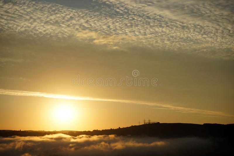 cloud wschód słońca fotografia stock