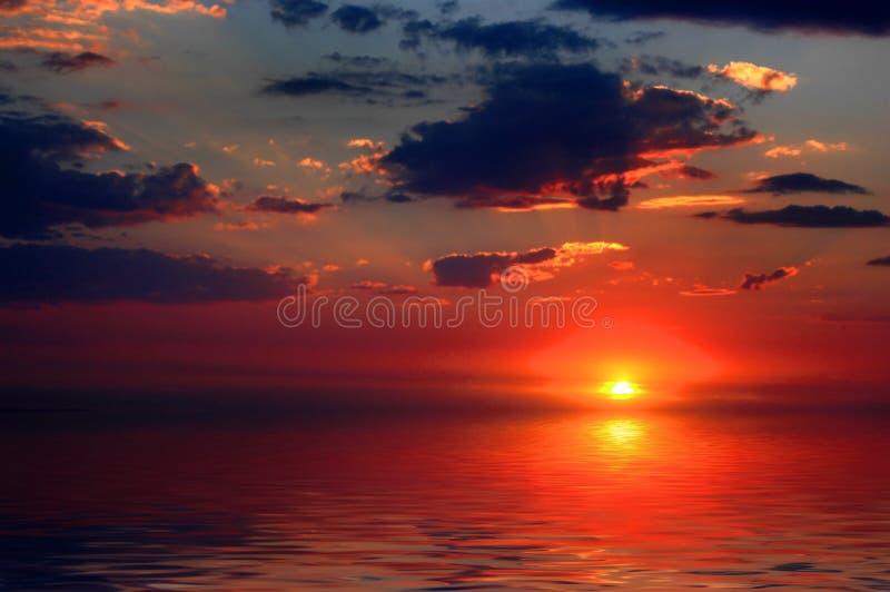 cloud zachodzącego słońca obraz stock