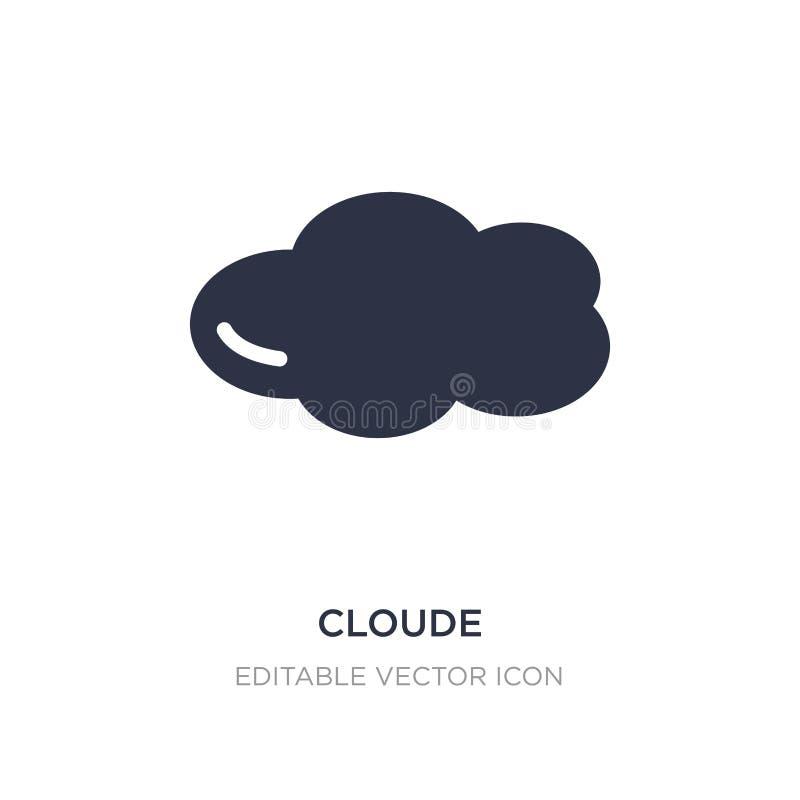 cloude εικονίδιο στο άσπρο υπόβαθρο Απλή απεικόνιση στοιχείων από την καιρική έννοια ελεύθερη απεικόνιση δικαιώματος