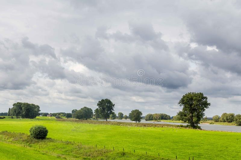 Dutch river landscape royalty free stock photography