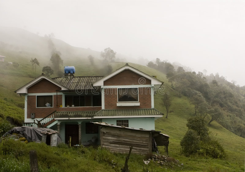 cloudforest туман ecuadorian сверх стоковое изображение
