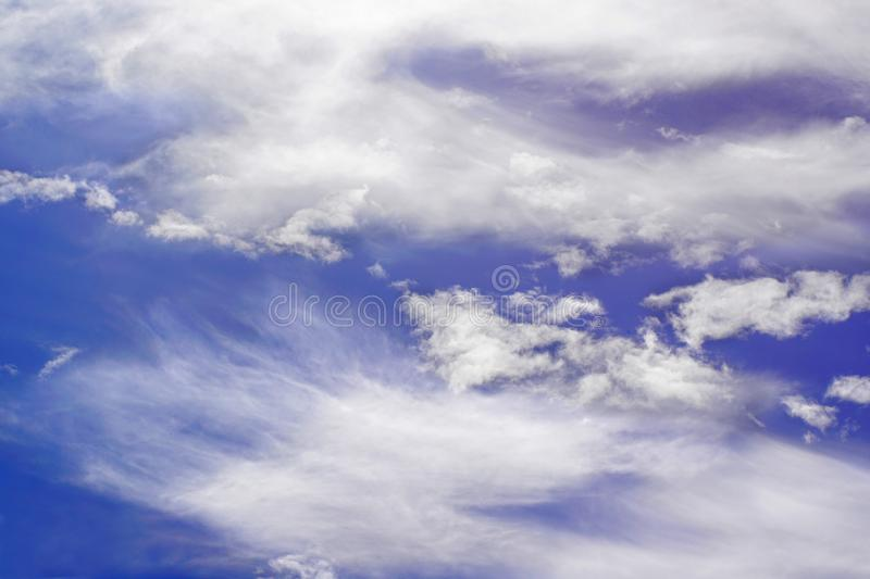 Cloudiness. Bright sky with clouds-partly cloudy stock photo