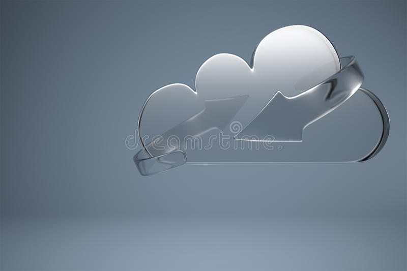 Download Clouding Service With Sync Arrows Stock Illustration - Illustration: 26607105