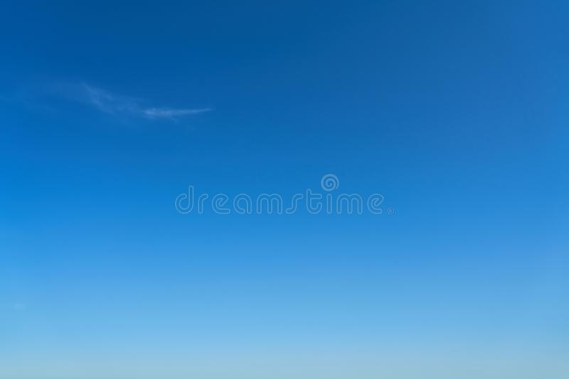 Cloudless blue sky. In the day in summer royalty free stock photo