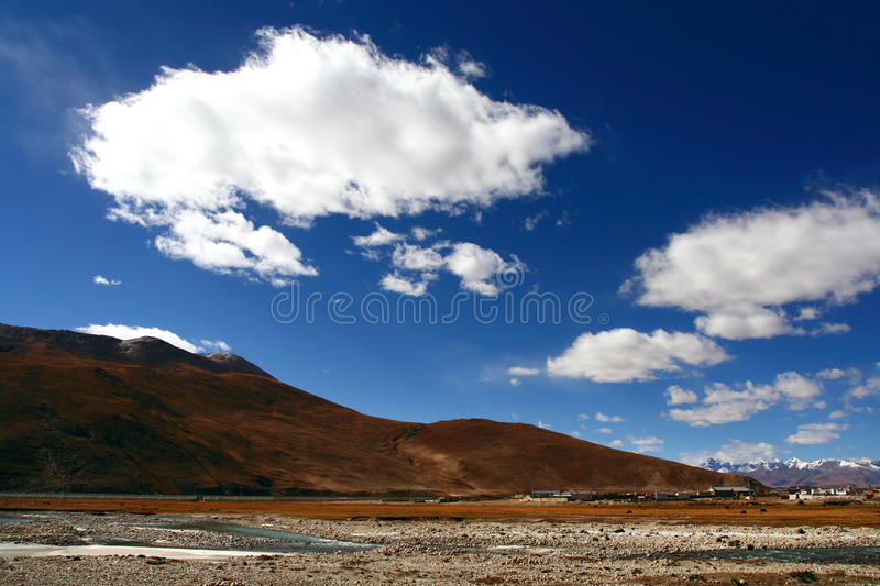 Clouds. The beautiful clouds in tibetan plateau stock photo