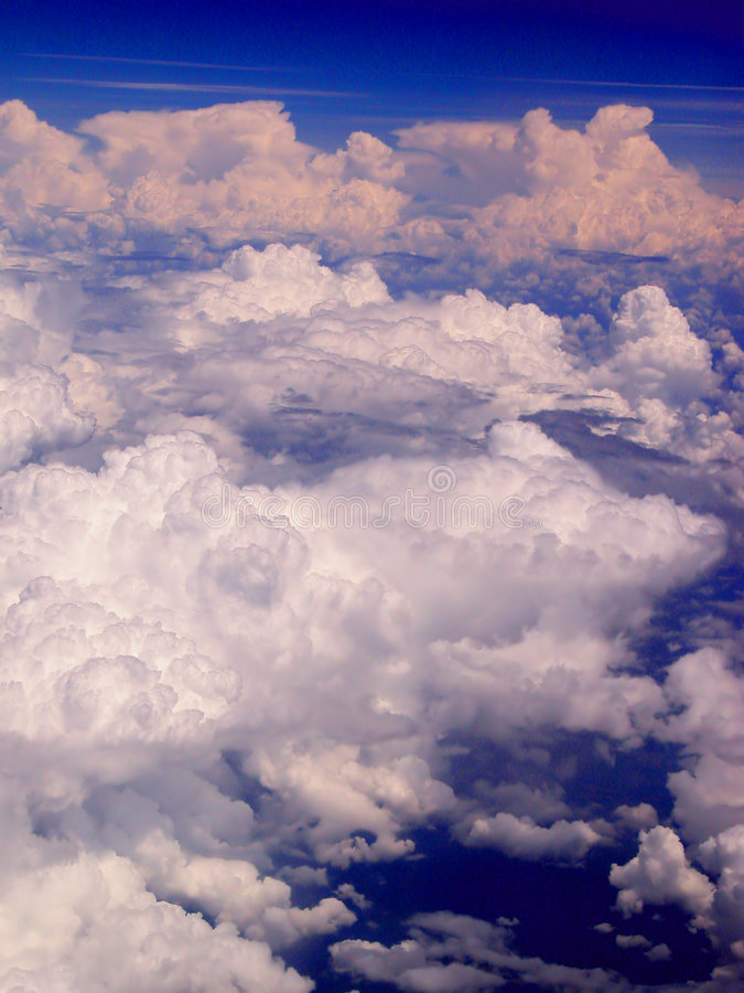 Download Clouds stock image. Image of aerial, peaceful, atmosphere - 154457