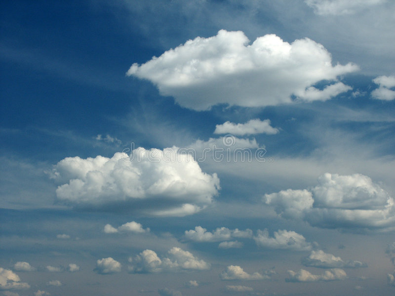 Clouds. On blue sky. Ideally for background stock image