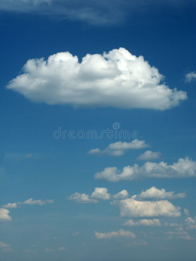 Clouds. On blue sky. Ideally for background stock photography