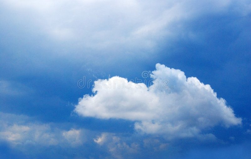 Clouds. An image of a bright blue sky with clouds