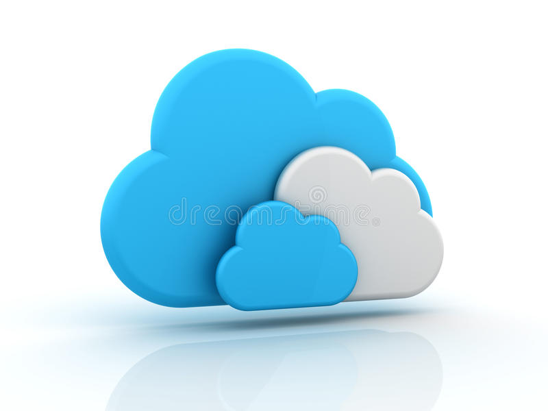 Clouds. Three dimensional illustration of clouds