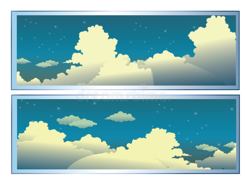 Clouds royalty free illustration