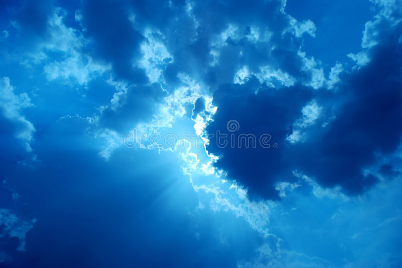 Clouds. Blue sky background with clouds