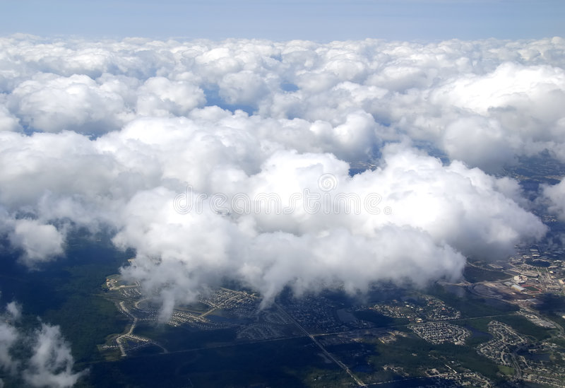 Download Clouds stock image. Image of plane, overcast, atmosphere - 793043
