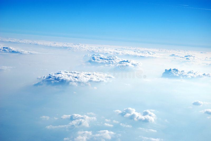 Clouds from above, 2008 royalty free stock image