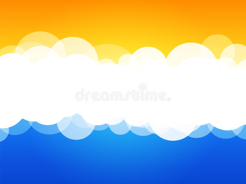 Clouds abstract background royalty free illustration