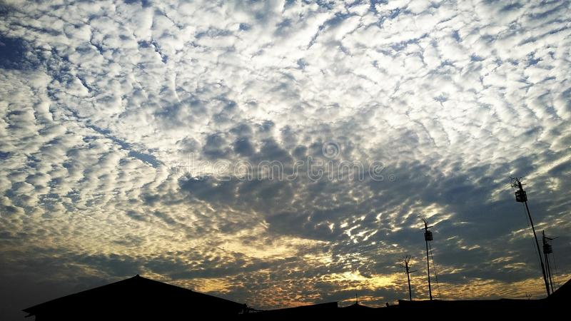 Clouds in the afternoon royalty free stock photo