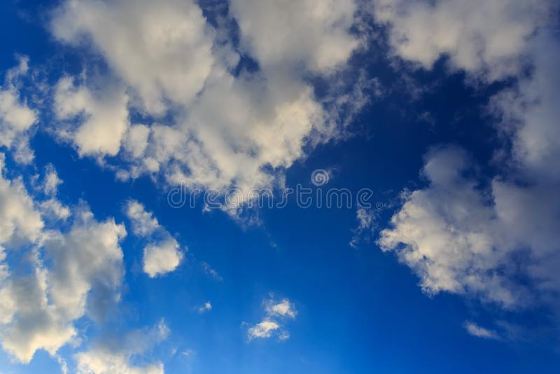 Clouds against blue sky as abstract background royalty free stock image