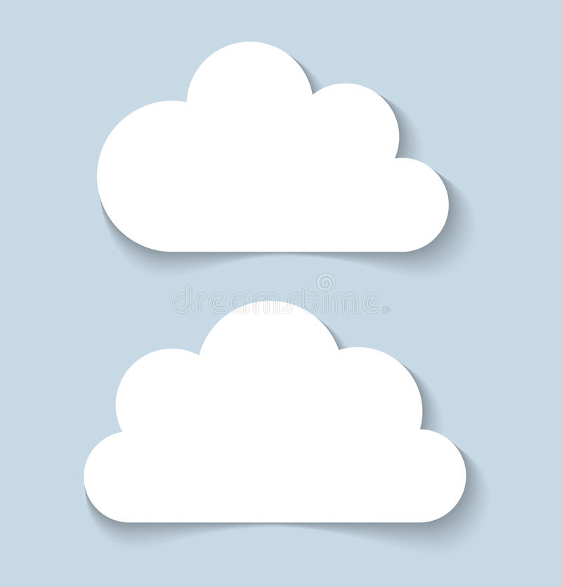 Clouds applique banners. Vector illustration stock illustration