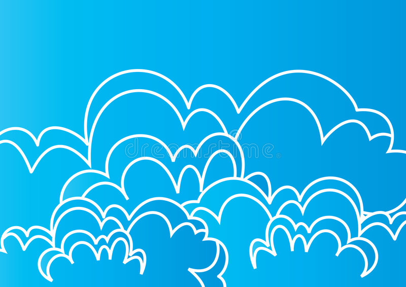 Download Clouds art - vector stock vector. Image of autumn, background - 6495714