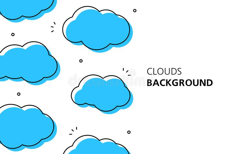 Clouds background. Isolated on white background vector illustration