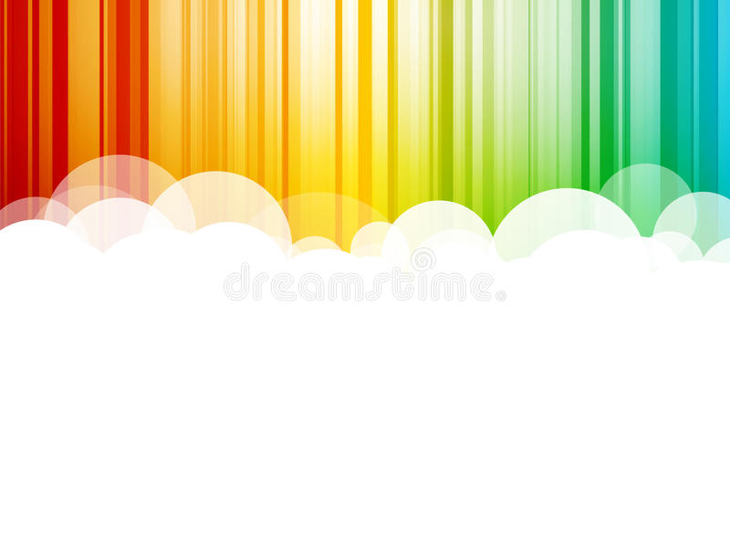 Clouds background colorful stripes royalty free illustration