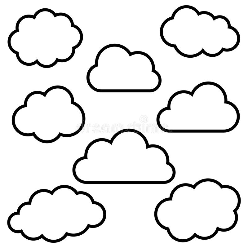 Clouds Background Stock Vector