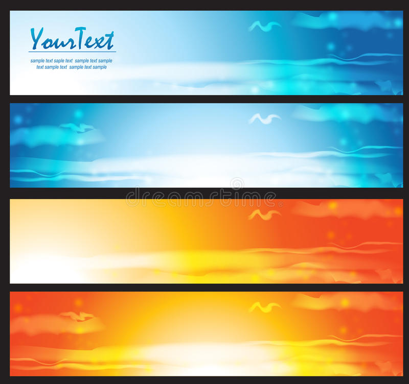 Download Clouds banner stock illustration. Image of abstract, banner - 19746233