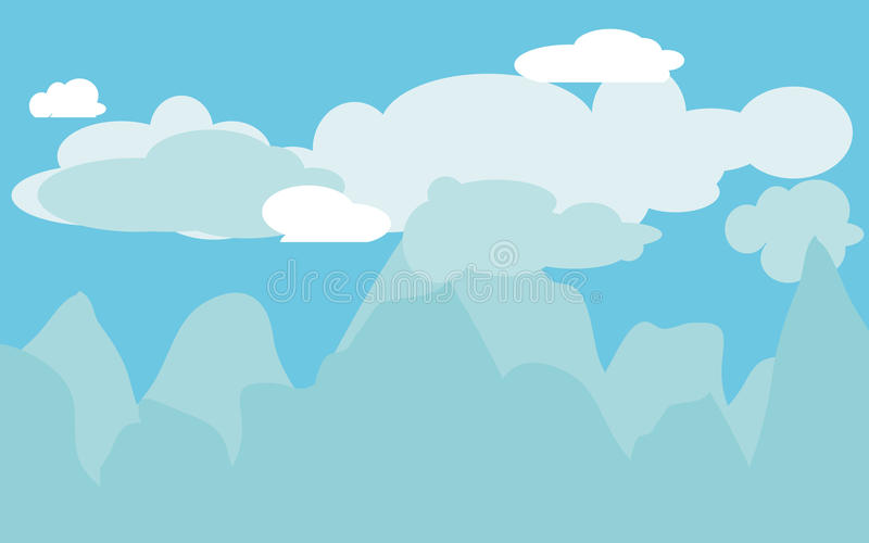 clouds berg stock illustrationer