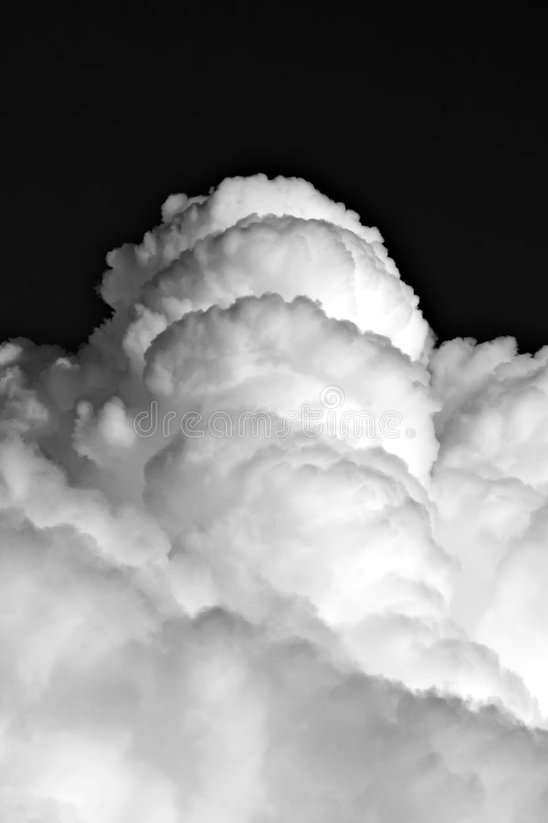 Clouds on the black sky royalty free stock images