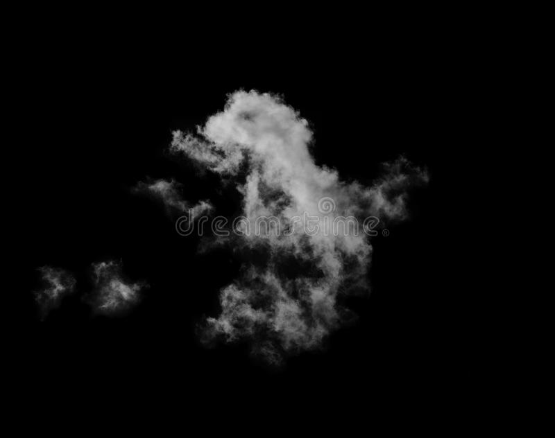White clouds on black sky royalty free stock image