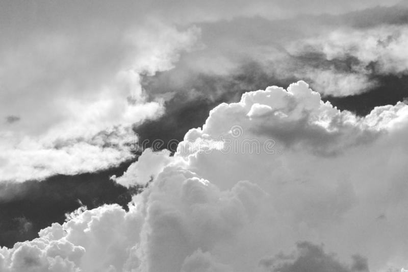 Clouds in black and white royalty free stock photography