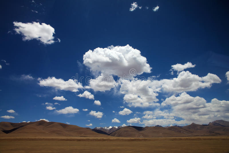 clouds in blue stock photography
