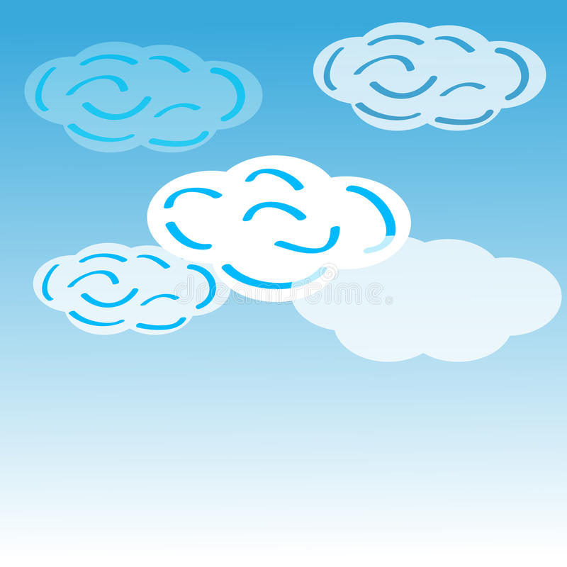 Download Clouds on blue background stock vector. Image of collection - 83720683